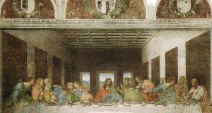 Cenacolo Vinciano, Refettorio del convento di Santa Maria delle Grazie, Milano. Autore Leonardo da Vinci. No Copyright