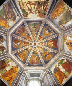 Fresque de Luca Signorelli, Basilique de la Sainte Maison, Lorette (Loreto), Marches. Auteur Web Gallery of Art. No Copyright
