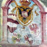 Affresco sulla Porta di Sluderno, GlorenzaGlurns, Trentino-Alto Adige. Autore e Copyright Marco Ramerini