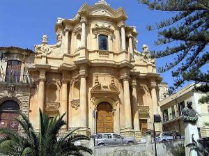 A Igreja de San Domenico, Noto, Siracusa, Sicília. Autor e Copyright Marco Ramerini