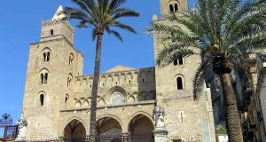 La cathédrale de Cefalù, Palerme, Sicile. Auteur et Copyright Marco Ramerini