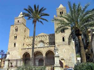 A Catedral de Cefalù, Sicília. Autor e Copyright Marco Ramerini