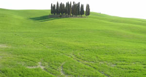 Paysage près de San Quirico d'Orcia, Val d'Orcia, Sienne. Auteur et Copyright Marco Ramerini
