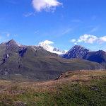 Paysage de montagne du Petit-Saint-Bernard en direction du Mont Blanc, Val d'Aoste. Auteur et Copyright Marco Ramerini
