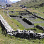 Vestiges du Masio romaine, Col du Petit-Saint-Bernard, Val d'Aoste. Auteur et Copyright Marco Ramerini
