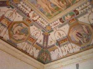 Afrescos, Palazzo della Corgna, Castiglione del Lago, Úmbria. Autor e Copyright Marco Ramerini.