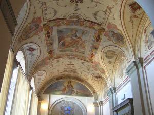 Afrescos, Palazzo della Corgna, Città della Pieve, Úmbria. Autor e Copyright Marco Ramerini