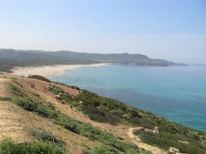 A praia de Fontanamare, Gonnesa, Sardenha. Autor e Copyright Marco Ramerini