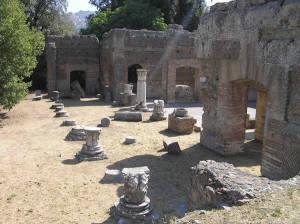 Triclinio Imperiale, Villa Adriana, Tivoli. Autor e Copyright Marco Ramerini.