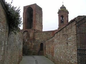 Uma torre da muralha da cidade, Città della Pieve, Úmbria. Autor e Copyright Marco Ramerini