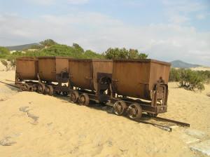 Vieux camions de mine, Piscinas, Arbus, Sardaigne. Auteur et Copyright Marco Ramerini