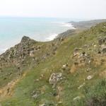 La costa sotto il Castello di Montechiaro, Palma di Montechiaro, Agrigento, Sicilia. Autore e Copyright Marco Ramerini