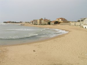 La plage de Punta Secca, Sicile. Auteur et Copyright Marco Ramerini