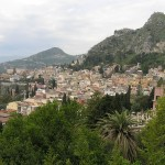 Panorama di Taormina, Sicilia. Autore e Copyright Marco Ramerini