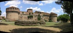 La forteresse Sforza d'Imola, Bologne, Émilie-Romagne. Auteur et Copyright Marco Ramerini..