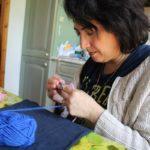 12- Insegnante, Lavoro a uncinetto. Autore e Copyright Laura Ramerini