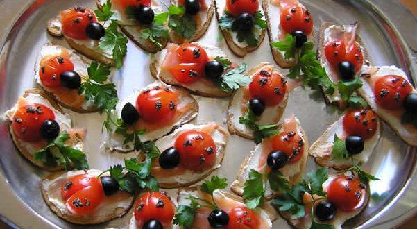 Crostini al salmone. Autore e Copyright Marco Ramerini