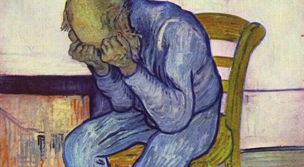 Sulla soglia dell'eternità di Vincent van Gogh. No Copyright