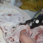 Taglio dell'Osso buco. Autore e Copyright Marco e Laura Ramerini