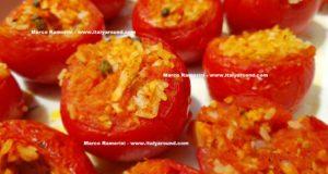 Pomodori Ripieni di riso. Autore e Copyright Marco Ramerini