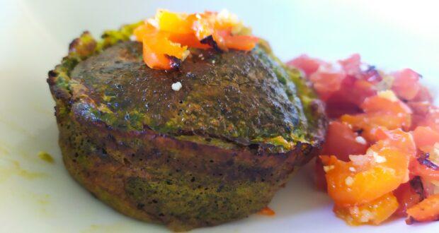 Muffin agli spinaci e pomodoro